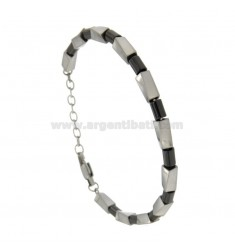 STAINLESS STEEL BRACELET WITH RETURN AND EMATITE CM 21