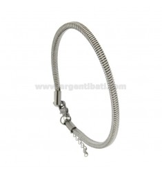 BRACELET 4X4 SQUARE GAS TUBE FOR INSERTION STEEL PENDANTS CM 21-23