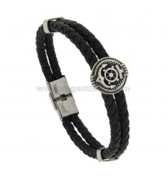 TWO WIRE WIRE BRACELET WITH STAINLESS STEEL AND CENTER STAINLESS STEEL CM 21