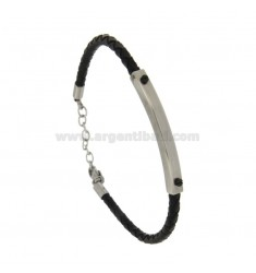 STAINLESS STEEL BRACELET MM 4 STAINLESS STEEL BLUE WITH RUTENE PLATED CM 21