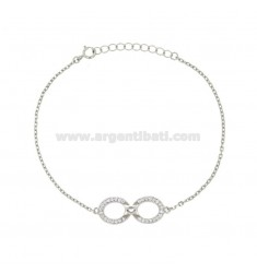 BRACELET ROLE WITH INFINITE AND ZIRCONI IN SILVER RODIATO TIT 925 ‰ CM 17-20