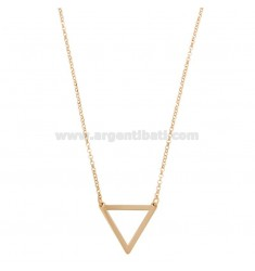 ROLLER NECKLACE WITH TRIANGLE PENDANT SILVER REDUCED TIT 925 ‰ CM 40-45