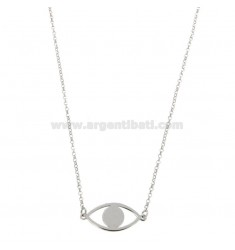 NECKLACE ROLO 'WITH EYE PENDANT SILVER REDUCED TIT 925 ‰ CM 40-45