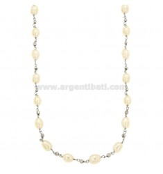 LONG SILVER NECKLACE WITH BARON CANDLES AND SILVER REDUCED TIT 925 ‰ CM 70