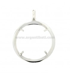 FRAME FOR COIN 500 LIRE INTERNAL DIAMETER 30 MM SILVER TIT 925