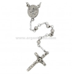 ROSARY NECKLACE WITH SMOOTH BALL FROM MM 5 CM 70 IN STEEL