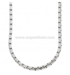 VENETIAN STEEL LENGTHENED NECKLACE MM 4.5 CM 60