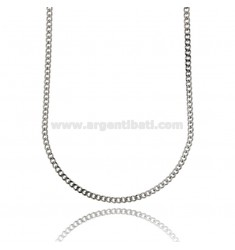 CURB CHAIN 3 MM IN STEEL 80 CM