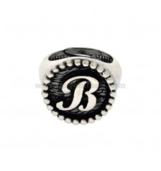 RING FROM MIGNOLO BUNDLE MM 16 WITH LITTER B IN SILVER BRUNITO TIT 925 ADJUSTABLE MEASURE FROM 6