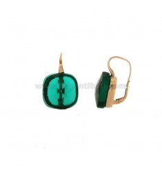MONACHELINE EARRINGS WITH SILVER HYDROCHEMICAL STONE MM 18X18 GREEN SILVER REDUCED TIT 925 ‰