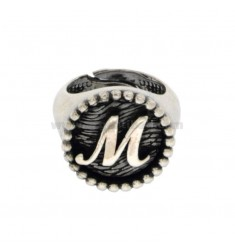RING FROM MIGNOLO BUNDES MM 16 WITH LITTER M IN SILVER BRUNITO TIT 925 ADJUSTABLE MEASURE FROM 6