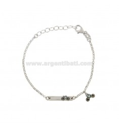 BRACELET BABY ROLO 'WITH PLATE AND BICYCLE IN SILVER RIDIATO TIT 925 ‰ AND SMALTO CM 14-17