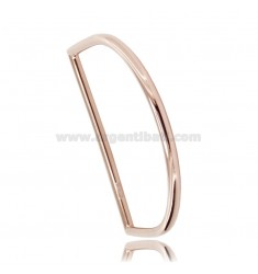 RIGID ARCH BRACELET WITH ROUND BARREL 4 MM IN COPPER SILVER TIT 925