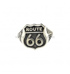 ROUTE 66 RING IN SILVER BRUNITO TIT 925 ADJUSTABLE SIZE FROM 20