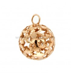PENDANT ANGELS PENDANT 23 MM WITH STARS PERFORATED SILVER COPPER TIT 925 ‰