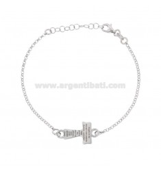 ROLO BRACELET 'TAO WITH ANGEL OF GOD IN SILVER RHODIUM TIT 925 CM 18-21