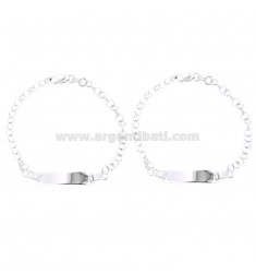 BABY BRACELET PZ 2 ROLO 'SWEATER WITH SILVER PLATE TIT 925 ‰ CM 16