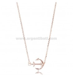 ROLO 'CHAIN WITH CENTRAL ANCHOR IN COPPER SILVER TIT 925 ‰ CM 42-45