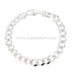 Armband SWEATER GRUMETTE 9X3 MM Silber 925 ÷ 21.5 CM
