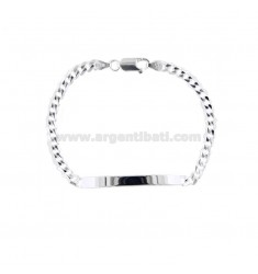 BRACELET KNITTED GRUMETTE WITH PLATE 48X14 SILVER 925 ‰ CM 19