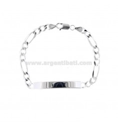 3 1 NECKLACE BRACELET WITH 6X1.9 MM PLATE IN SILVER 925 ‰ 20 CM