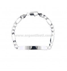 3 1 NECKLACE BRACELET WITH MM 68X19 PLATE IN SILVER 925 ‰ 20 CM