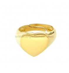 RING FROM MIGNOLO HEART IN SILVER GOLDEN 925 ‰ SIZE ADJUSTABLE FROM 8