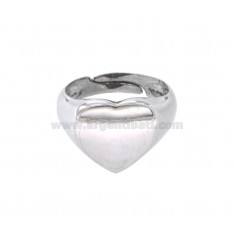 RING FROM MIGNOLO HEART IN SILVER RHODIUM 925 ‰ SIZE ADJUSTABLE FROM 8