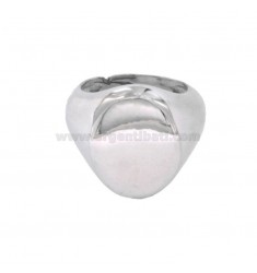 RING OVAL MIGNOLO SILVER RHODIUM 925 ‰ ADJUSTABLE SIZE FROM 8