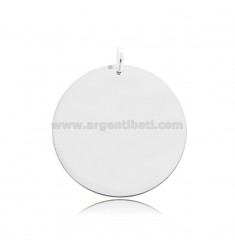 ROUND PENDANT DIAMETER 30 MM THICKNESS 0.5 MM SILVER TIT 925
