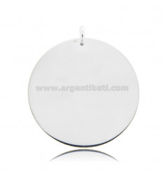 ROUND PENDANT DIAMETER 35 MM THICKNESS 0.5 MM SILVER TIT 925
