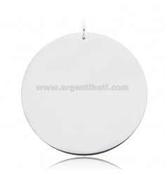 ROUND PENDANT DIAMETER 40 MM THICKNESS 0.5 MM SILVER TIT 925