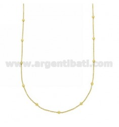 LACE AND CHAIN ??2.5 MM BALL ALTERNATE SILVER GOLD TIT 925 ‰ CM 80
