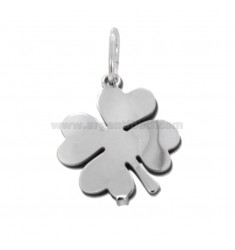 PENDANT DOUBLE QUADRIFOGLIO MM 18X15 SILVER RHODIUM TIT 925 ‰