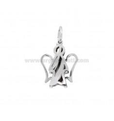 PENDANT ANGEL DOUBLE MM 21x15 SILVER RHODIUM TIT 925 ‰