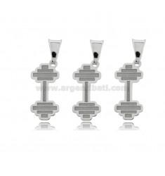 Anhänger PZ 3 BILANCIERE MM 19X9 Silber Rhodium TIT 925 ‰