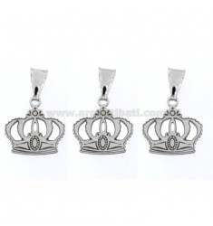 PENDANT PZ 3 CROWN MM 15X14 SILVER RHODIUM TIT 925 ‰