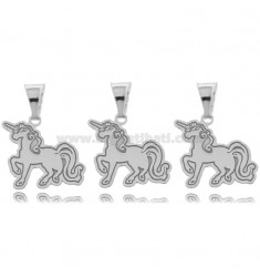 PENDANT PZ 3 UNICORN 16x17 MM SILVER RHODIUM TIT 925 ‰