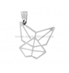PENDANT BUTTERFLY ORIGAMI MM 25X25 SILVER TIT 925 ‰