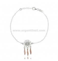 ROLO BRACELET 'WITH LOTUS FLOWER IN RHODIUM AND COPPER SILVER TIT 925 925 CM 18-20