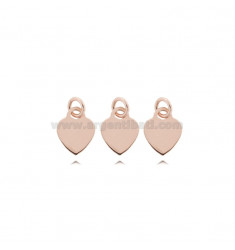 PENDANT PCS 3 HEART MM 8 THICKNESS MM 0.8 IN ROSE SILVER TIT 925