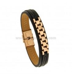 MM 13 BRACELET WITH CENTRAL JUBILE 'JAWS IN COPPER STEEL 22 CM