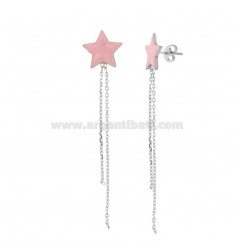 STELLA EARRINGS WITH PENDANTS IN SILVER RHODIUM AND SMALTATOTIT 925