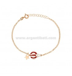 ROLO BRACELET WITH GLOVE AND GLOVE MONGOLFIERA WITH CENTRAL SILVER COPPER TIT 925 ‰ CM 17-20