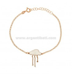 ROLO BRACELET 'CLOUD ENAMELED WITH CHAINS AND STELLINA PENDANT SILVER COPPER TIT 925 ‰ CM 17-20