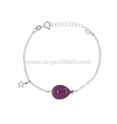 CUFF BRACELET WITH ENAMELED BALLOON AND WITH STYLE ZIRCONATE PENDANT IN SILVER RHODIUM TIT 925 ‰ CM 17-20