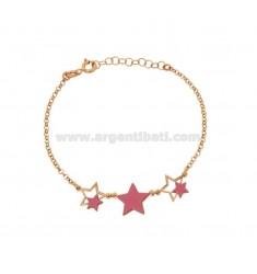 Armband mit Emaille STARS Silber Kupfer TIT 925 ‰ CM 17-20
