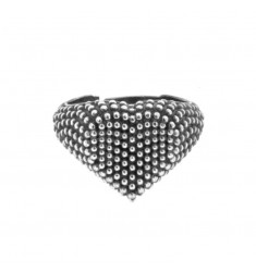 HEART RING WITH SILVER MICROWAVE SILVER 925 ‰ ADJUSTABLE SIZE FROM 12