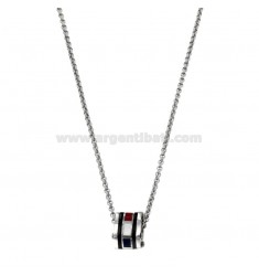 PENDANT BOLT IN STEEL AND ENAMEL AND CHAIN ??ROLO 'CM 50