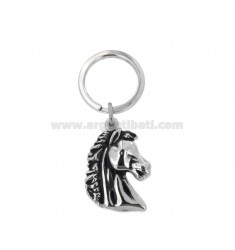 KEYCHAIN ??HEAD HORSE ETHNIC LINE IN BRUNITO STEEL